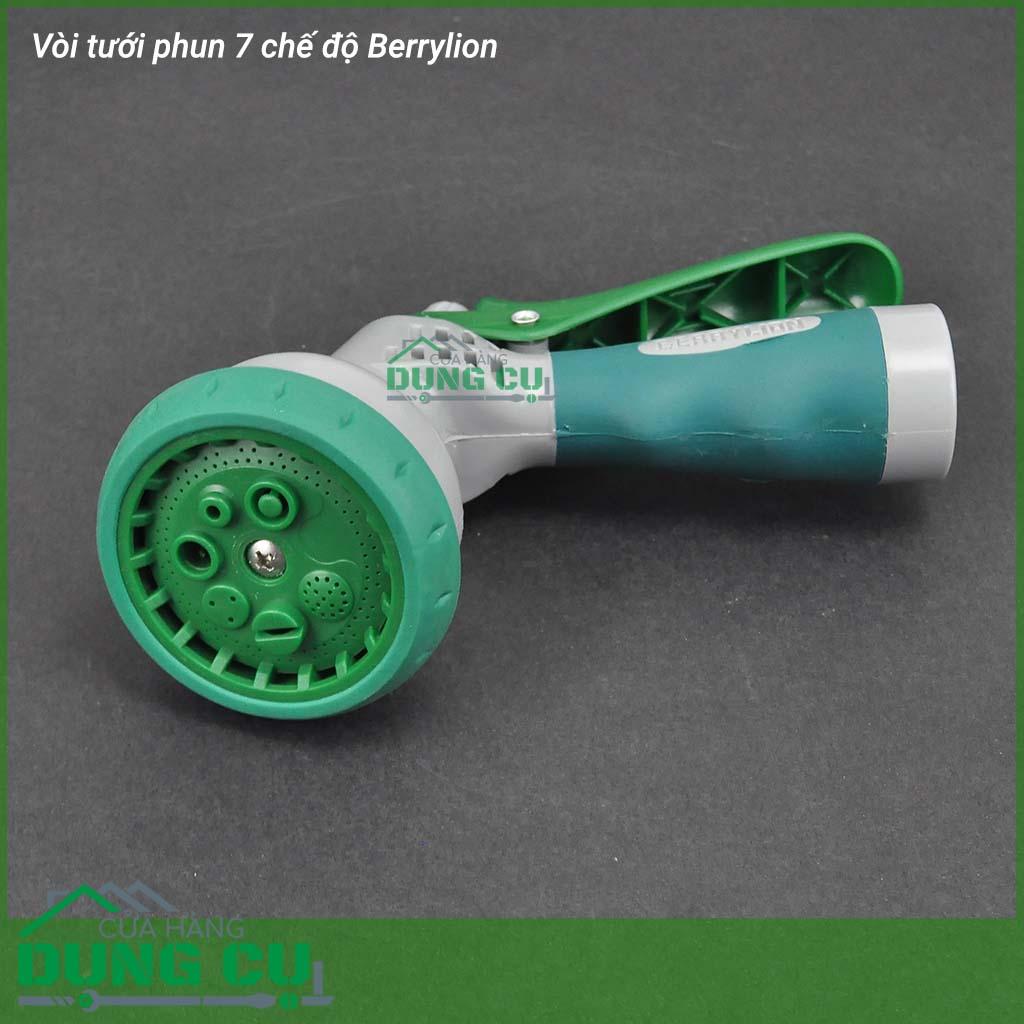Bộ đầu tưới 7 chế độ phun xịt rửa Berrylion