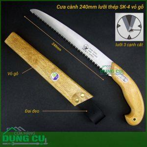 Cưa cành vỏ gỗ thép cứng SK4 chất Nhật hiệu Buddy