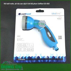 Vòi tưới vườn, xịt rửa cao cấp 8 chế độ Cellfast 52-055