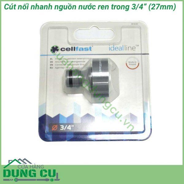 Cút nối nhanh nguồn nước ren trong Cellfast