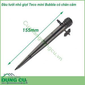 Đầu tưới nhỏ giọt Teco mini bubbla 360 độ có chân cắm