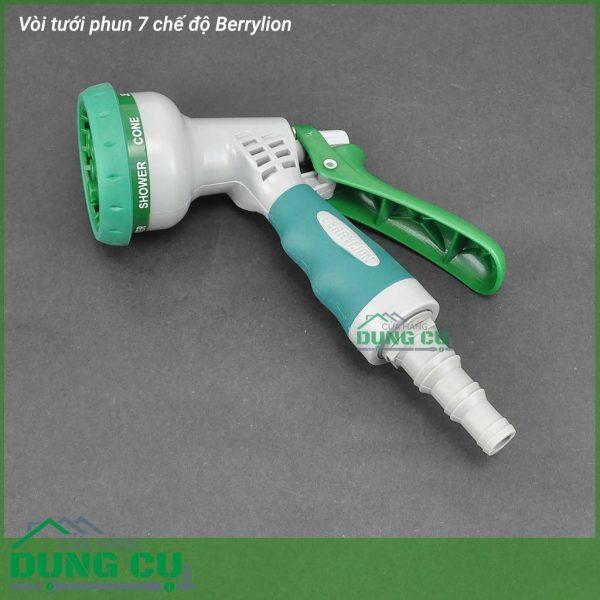 Bộ đầu tưới 7 chế độ phun xịt rửa BerrylionBộ đầu tưới 7 chế độ phun xịt rửa Berrylion