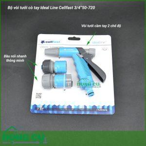 """Bộ vòi tưới cò tay Ideal Line Cellfast 3/4""""50-720"""