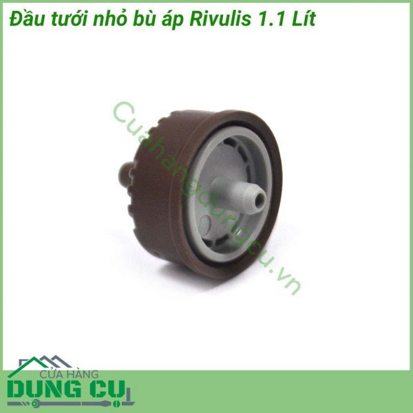 Đầu tưới nhỏ giọt bù áp Rivulis 1.1LĐầu tưới nhỏ giọt bù áp Rivulis 1.1L