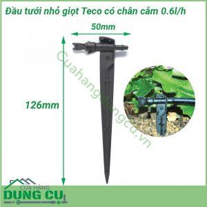 Đầu tưới nhỏ giọt Teco có chân cắm 0-6l/h